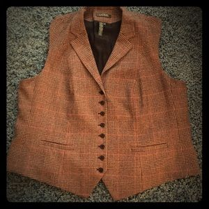 Classic Ralph Lauren tweed vest